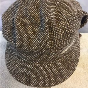 Life is good hat brown wool tweed cap